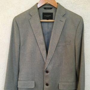 Banana Republic Grey 100% Cotton Sportcoat - 38R